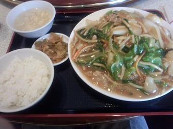 銀座 新台北菜館 ランチ 日替り定食 五目かたやきそば