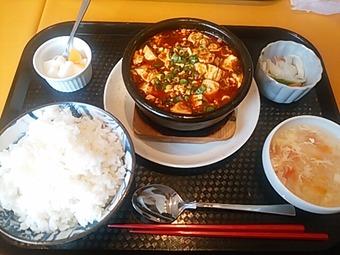 新橋 A・DINING エー・ダイニング ランチ 土鍋麻婆豆腐