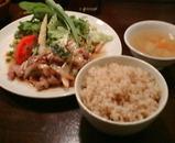 銀座 みなもと ランチ 生姜焼き 玄米