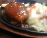ニュー新橋ビル 肉の万世新橋店 ハンバーグと野菜炒め ランチ