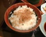 ニュー新橋ビル ひでや ランチ 竹豆腐定食 じゃこ飯