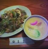 長崎料理 銀座 吉宗(よっそう) サービスセット 茶碗蒸し 皿うどん