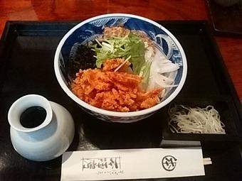 新橋 本陣房本店 限定ランチ 桜海老ぶっかけ蕎麦