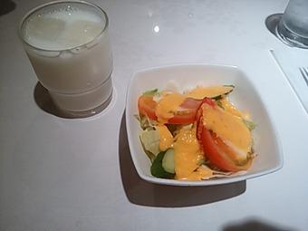 銀座 ラージマハール ランチ サラダ ラッシー