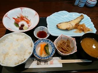 越州 新橋店 ランチ 焼き魚