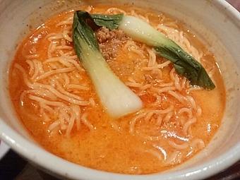 鳥どり 新橋店 銀座 ランチ たっぷり野菜の油淋鶏と冷やし担々麺