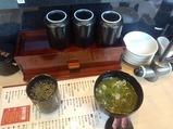 新橋 すし三崎丸 お茶 味噌汁