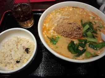 銀座 東方一角別館 ランチ 坦々麺+半チャーハン