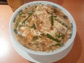 日高屋 季節限定 酸辣きのこ湯麺 淫靡な香りするも美味い
