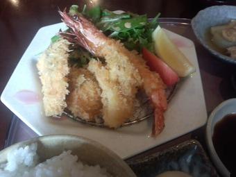 銀座 和らん ランチ 魚介のフライ 足赤エビ