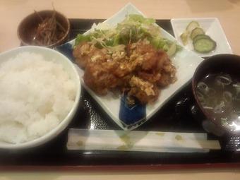 銀座 土筆 つくし ランチ 鶏唐揚げ定食