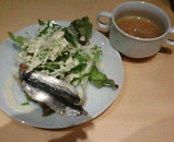 銀座 ファビズ Fabis パスタランチ サラダ スープ
