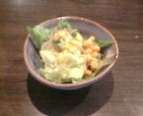 新橋 威風 ランチ サラダ