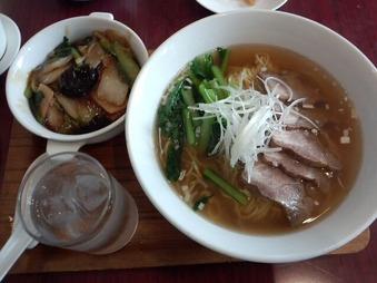 新橋亭 別館 ランチ 特製チャーシュウ麺と五目あんかけご飯