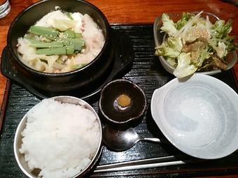 新橋 清水 KAKUREGA 隠れ家 ランチ 特性塩モツ鍋