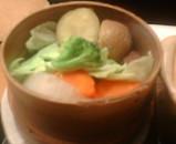 東京汐留ビルディング 大戸屋 野菜のせいろ蒸し