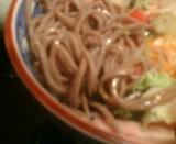 新橋 本陣坊 月替わりそば 7月 夏野菜とベーコンのぶっかけ蕎麦