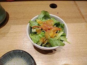 板前寿司 新橋店 ランチ サラダ