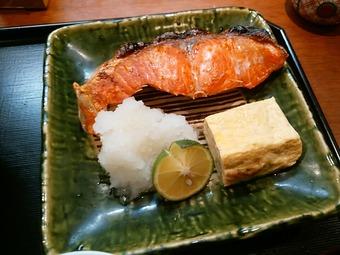 銀座 和の菜彩 さとう ランチ 焼魚御膳 鮭焼き