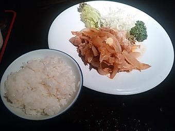 銀座 羅豚(らぶ) 本店 ランチビュッフェ バイキング 生姜焼き御膳