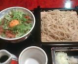 新橋 蕎麦 味喜庵 ランチ 鶏そぼろ丼