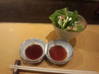 銀座岡半 ランチ サラダ