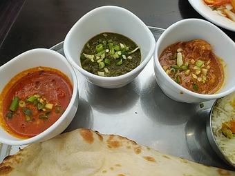 銀座インド料理カーンケバブビリヤニ 三種類のカレーランチ