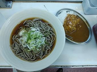 品川駅 駅ホーム立ち蕎麦 常盤軒 とわけん カレーセット