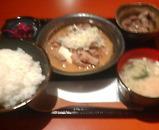 新橋 博多満月 ランチ モツ煮定食