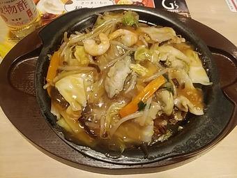ガスト 2019秋 日本の美食紀行 小樽 牡蠣と海老の五目あんかけ焼そば