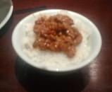 新橋 美華園 ランチ 冷やし坦々麺 ライス