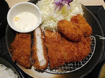 松乃家新橋店 ランチ ロースカツ&カキフライ定食 新橋まつのや