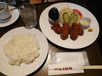 銀座ライオン新橋店 広島県産カキフライランチ