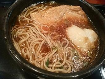 新橋 本陣房本店 ランチ 揚げもち九条きつね蕎麦
