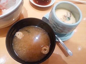 銀座 すし好 ランチ 茶碗蒸し 味噌汁