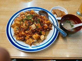 新橋 四季ボウ坊 ランチ 麻婆豆腐あんかけ焼きそば