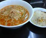 新橋 天下一 坦々麺とミニチャーハン