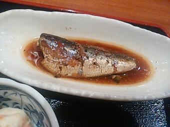 銀座 吟漁亭 保志乃 ほしの ランチ いわし煮セット 鰯煮