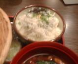 新橋 寿毛半 ランチ しらす丼と武蔵野豚汁つけうどん