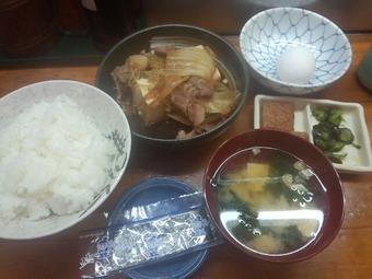 新橋 菊三八 ランチ 肉豆腐定食