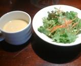 銀座ローマイヤ メンチカツ サラダ コーンスープ