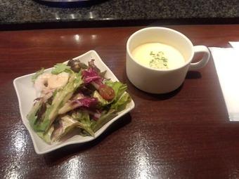 銀座 十三 13 じゅうぞう ランチ サラダ スープ