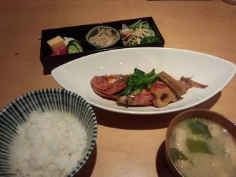 飯家 はんや くーた 銀座店 ランチ 煮魚カサゴ