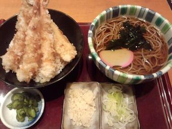 新橋 高田屋 ランチ 天丼とそばのセット