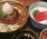 新橋 無国籍HARU(はる) ランチ 鮪刺身 ハンバーグ