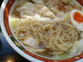 新橋 しお福 味玉わんたんめん 細麺