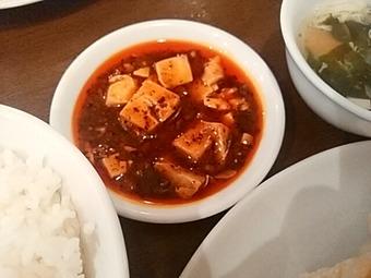 新橋 玲玲 れいれいランチ焼餃子セット 麻婆豆腐