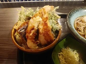 銀座 土風炉 とふろ ランチ 蕎麦と小丼セット 天丼