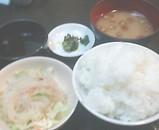牛庵 銀座店 ご飯 サラダ