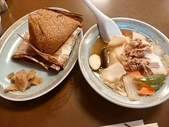 新橋 ビーフン東 あづま ランチ 五目汁ビーフン  中華チマキ